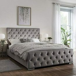 Beautiful Modern ATN Bed Frame in Soft Plush Fabric Fully Upholstered - We Love Our Beds