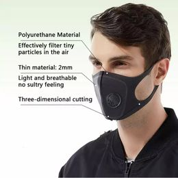 5 pack comfortable face mask with filter valve.