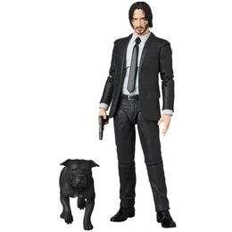 Mafex John Wick Movie John Wick Action Figurine Collectible Toy with Movable parts and Accesories - 7 ATAMS