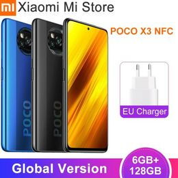 """Global Version Xiaomi POCO X3 Mobile Phone 6GB 128GB Snapdragon 732G Octa Core 6.67"""" Fullview Display 5160mAh NFC Cellphone freeshipping - swappy8"""