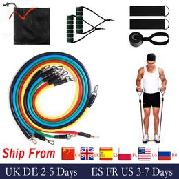 17Pcs Resistance Bands Set Expander Exercise Fitness Rubber Band Stretch Training Home Gyms Workout freeshipping - Modern-Fitness-Kits