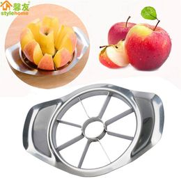 Kitchen Gadgets Stainless Steel Apple Cutter Slicer Vegetable Fruit Tools Kitchen Accessories  Apple Easy Cut Slicer Cutter freeshipping - aroco