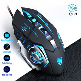 Pro Gamer Gaming Mouse 8D 3200DPI Adjustable Wired Optical LED Computer Mice - Rad RGB Gaming