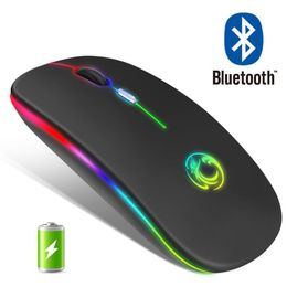 Wireless Mouse RGB Bluetooth Computer Gaming Mouse, Rechargeable - Rad RGB Gaming