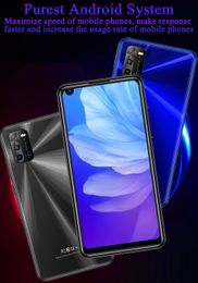 """4G LTE Smartphones 4G RAM+64G ROM 8MP+13MP Android Mobile Phones 6.72"""" Face ID Front/Back Camera  Unlocked."""