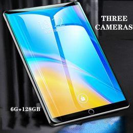Andriod  tablet 10 Inches Screen New Original Dual SIM 4G Phone Tablet PC Mic WIFI 6G + 128GB Tablet  Dual Camera GPS Phone.