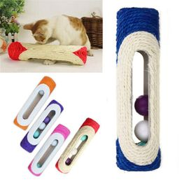 Cat Toy, Rolling Sisal Scratching Post with Trapped Ball - RoeDeerPet