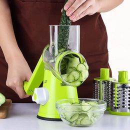 kezzace Accessories Green / US Vegetable Cutter Round Mandoline Slicer Potato Julienne Carrot Grater Cheese