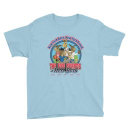 The Five Burros of New York©-Logo-Youth Short Sleeve T-Shirt - The Five Burros of New York