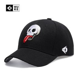 Embroidered Unisex Baseball Cap Skull  /tongue - Kool Cat Records T Shirts N More