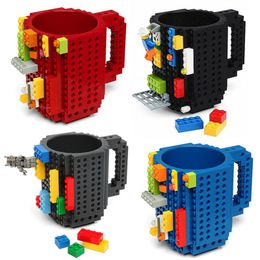 1Pc 12oz Build-On Brick Coffee Mug Lego Type - DirectM